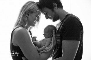 backlit family photography